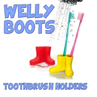Welly Boots Toothbrush Holder - YELLOW