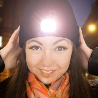 Beamie LED Beanie Hat - BLACK