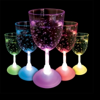 Flashing LED Wine Glass