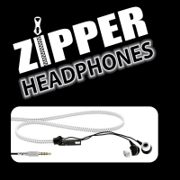 Zipper Earphones WHITE