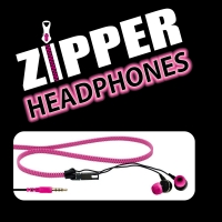 Zipper Headphones PINK