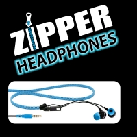 Zipper Earphones BLUE